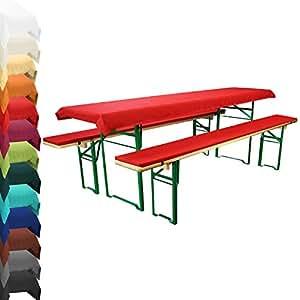 auflagenset f r bierzeltgarnitur rot. Black Bedroom Furniture Sets. Home Design Ideas