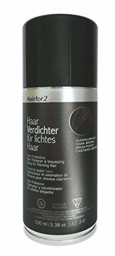 Hairfor2 Haarverdichter Spray, schwarzbraun, 1er Pack, (1x 100 ml)