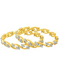 Voylla Beautiful Gem Studded Bangles with Gold Plating