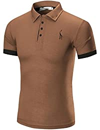 Camisas de Hombre Manga Corta,Moda hombres casual Slim manga corta de negocios camisetas blusa