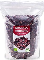 Flores de hibisco orgánicas HerbaNordPol | Egipcias | Hibiscus Premium | 1 Kg BIO | Pétalos sueltos grandes pa