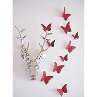 24 Stk. hochwertige 3D Schmetterlinge aus Kaschierfolie mit edlem Chintz Baumwollgewebe, 15 verschiedene Farben zur Auswahl