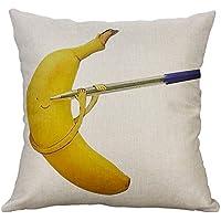 YOYOGO Fundas Cojines Infantiles Patrón De Plátano Decoración para El Hogar Funda De Cojín Sofá Throw Pillowcase Funda De Almohada