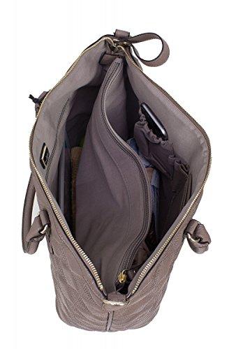Shopper cm B 826 AQ x 30 aus XL Sansibar Kunstleder 5 Taupe 5 x Schultertasche 17 42 Xwx0ZqnY5H