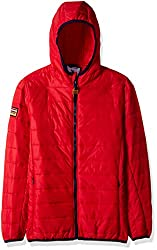 US Polo Association Boys Casual Jacket (UJJK5177_Medium Red_M)