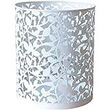 GP Cesta de basura hueca del metal/recepción industrial de la oficina del cubo del almacenamiento del estilo (Color : White, Size : A-S)