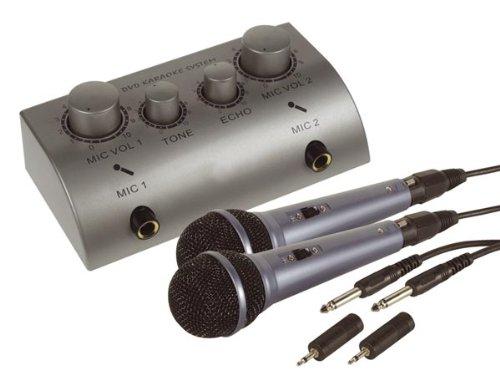 Sistema DVD Karaoke System Sistema Ultra Compatto (mixer+2mic) per Feste Karaoke