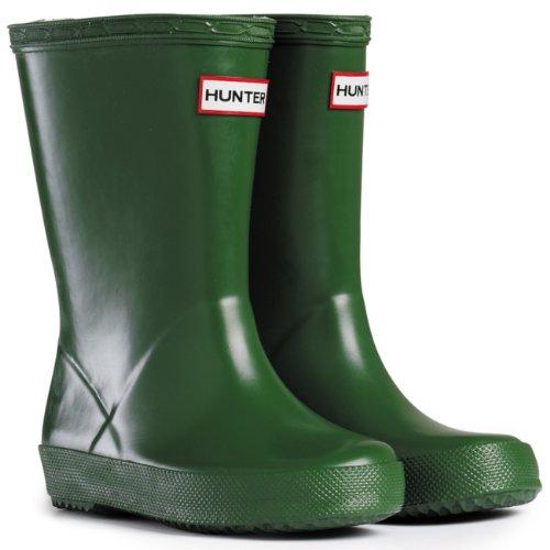Unisex Kinder Hunter Kinder First Classic Regen Schnee Gummistiefel Grün