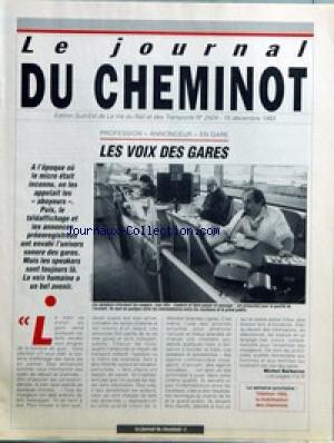 JOURNAL DU CHEMINOT (LE) [No 2424] du 15...