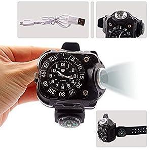 Handgelenk-Taschenlampe,Taschenlampe,Cool schwarz Bequem zu tragen by MUMENG