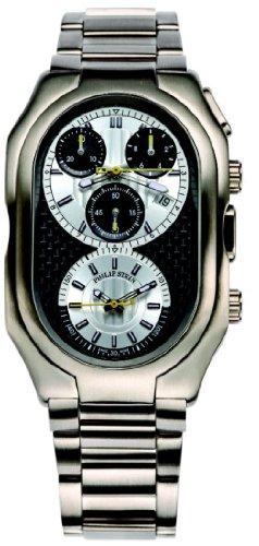 Philip Stein - 13TI-BCS-TSS - Montre Homme - Quartz Analogique - Cadran Blanc - Bracelet Titane