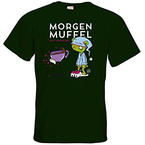 getshirts - Crapwaer - T-Shirt - Morgenmuffel Bottle Green