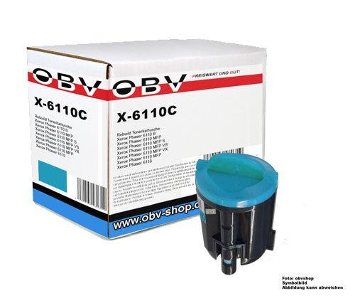 OBV kompatibler Toner cyan (blau) für Xerox Phaser 6110 / 6110B / 6110 N / 6110 MFP / 6110 MFP S / MFP VS / MFP VX / MFP X / Kapazität 1000 Seiten -