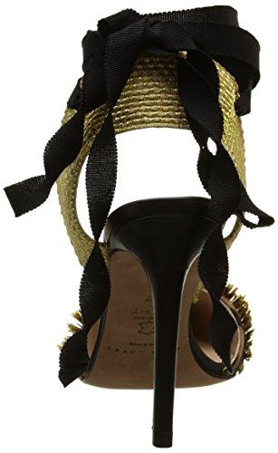Pura Lopez Ah155, Sandales femme Multicolore (Combo Trens Dama Oro)