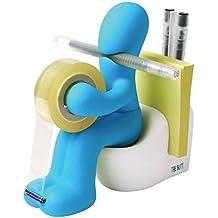 The Butt Bürobedarf-Station, Klebefilm-Abroller - Süßes und lustiges Schreibtisch-Accessoire fürs Büro, Zuhause oder in der Schule - Origineller Schreibtisch-Organizer zaubert Ihnen ein Lächeln ins Gesicht - ein ideales Geschenk (Blau)