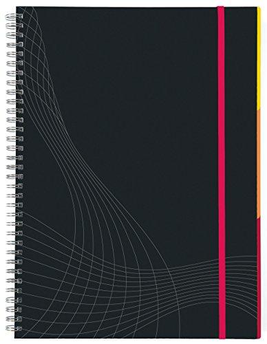 Avery Zweckform 7023 Notizbuch notizio (A5, Hardcover, Doppelspirale, kariert, 90 g/m²) 90 Blatt, dunkelgrau