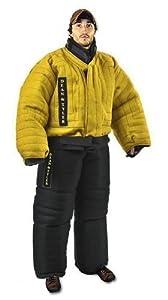 Costume de protection complet contre les morsures, lin français solide- Noir/jaune - Taille: large (H: 170 cm à 176 cm, P: 75 kg à 80 kg)