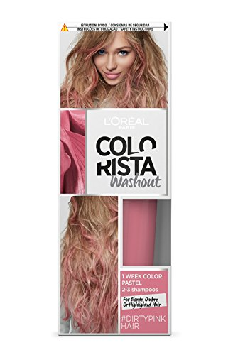 L'Oréal Paris Colorista Washout Pastel, Colorazione Temporanea 1 Settimana, Rosa Scuro (Dirtypink)