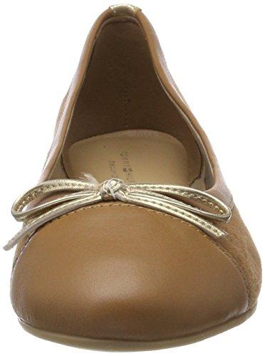 Tommy Hilfiger Damen Basic Kid Suede Ballerina Geschlossene Ballerinas Braun (Summer Cognac 929)