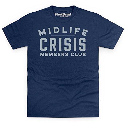 Midlife Crisis Club T-Shirt, Herren Dunkelblau