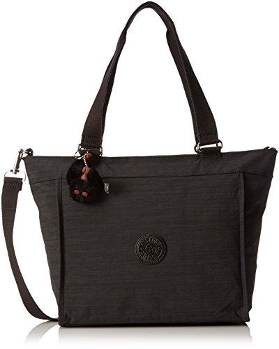 Kipling New S, Shopper Donna, Nero (REFH53 Dazz Black), 42x27x13 cm (B x H x T)