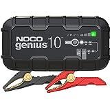 NOCO GENIUS10EU, Smart Automatico da 10 Amp, Caricabatterie da 6V e 12V, mantenitore di Carica e desolfatore di batterie con compensazione della Temperatura