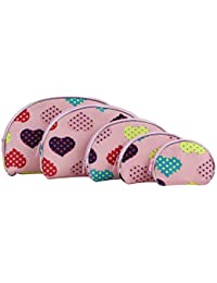 UberLyfe Multipurpose Pouch or Purse with Cute Hearts - Combo of 5 (PU-1691-HRTPK)