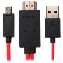 KanaaN KN40540 - Cable adaptador USB a HDMI para Samsung Galaxy S3, S4, Note 2 (2 metros)