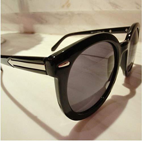 BHLTG Sonnenbrille Retro Pfeil Runde Sonnenbrille Flut weibliche runde Rahmen Sonnenbrille Outdoor Reise UV Brille-1