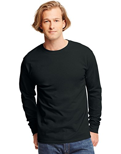 hanes-tagless-mens-long-sleeve-t-shirt-best-seller-5586-m-black