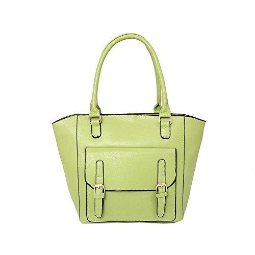 Hautefordiva , Damen Tote-Tasche Orange L lichtgrün