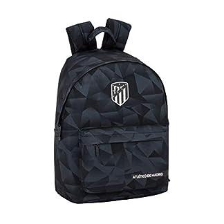 Atlético de Madrid Black Oficial Mochila Juvenil Para Portátil 14,1″, 310x160x410mm