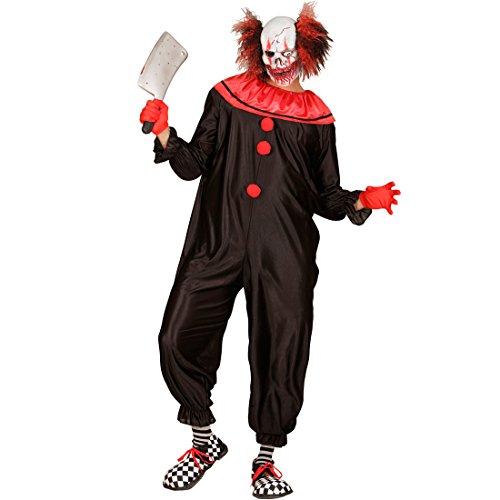 Imagen de traje clown de terror  xl es 54 | disfraz payaso asesino | disfraz bufón psicópata | mono arlequín terrorífico