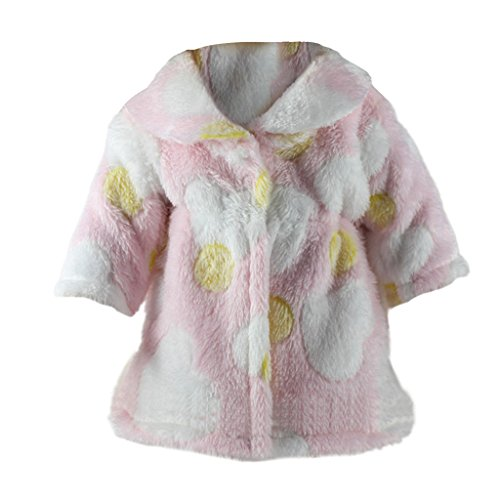 Blesiya Süße Puppe Plüsch Wintermantel Jacke Outfit für 18 Zoll Mädchen Puppe