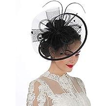 LUCKY Leaf Las mujeres chica tocados pelo Clip Horquilla sombrero boda  coctel Tea Party sombrero de afec5f0ecc3