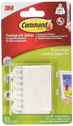 Command 17202, Tiras Colgar Cuadros, Blanco, Pequeñas