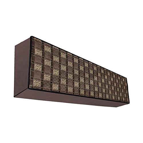 Dream Care Classic Brown Printed AC Cover for Voltas 123 Lye 1 Ton 3 Star Split IN Unit  available at amazon for Rs.349