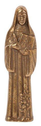 Motivationsgeschenke Hildegard von Bingen, Handschmeichler, 8 cm Bronzefigur