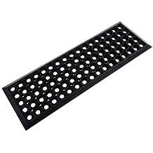 casa pura® Stufenmatte Ringgummi | rutschhemmende Gummistufenmatte für den Außenbereich | 25 x 75 cm | 5 er Sparpack