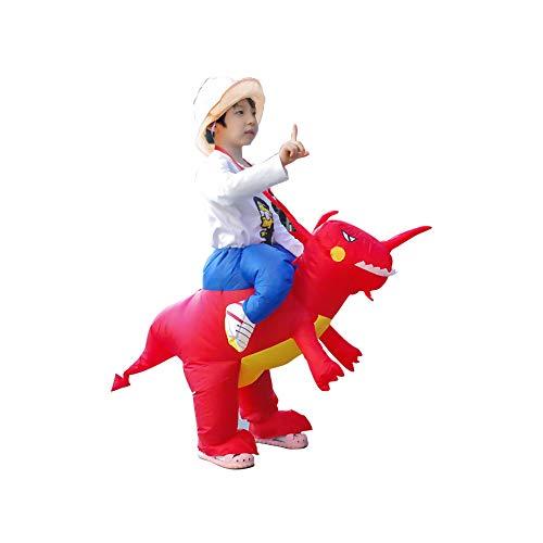 Deanyi Kleinkind Halloween-Kostüm Cosplay Aufblasbare Weihnachten Dinosaurier Aufblasbare Kleidung Karneval-Party-Performance Service ohne Batterie Red (Dinosaurier Halloween-kostüme Kleinkinder)