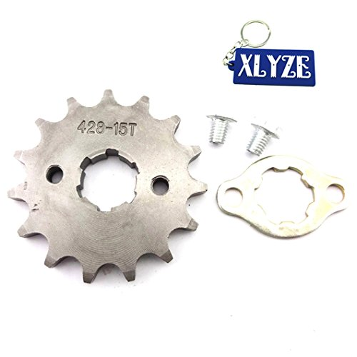 XLYZE 428 15 Dientes 20mm Engranaje del piñón delantero del motor para...