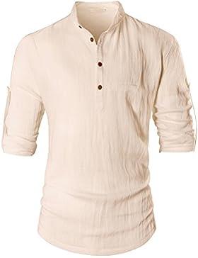 OCHENTA -  Camicia da cerimonia  - Tunica - Collo a U  - Maniche lunghe  - Uomo