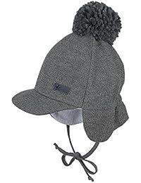Sterntaler Schirmmütze für Jungen mit Bommel und Bindebändern