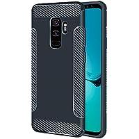 BONROY Handy Schutzhülle für Samsung Galaxy S9 Plus Hülle TPU Silikon Backcover Case Handytasche Einfarbig Telefon-Kasten Tasche Schutz Cover Design - (LD-Navy)