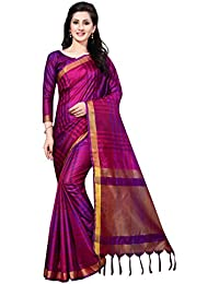 PERFECTBLUE Women`s Art Silk saree with Blouse Piece(ZikkatVariation)