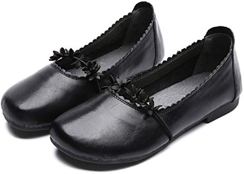 Qiusa Femmes Chaussures à Fleurs en Cuir Mary Jane pour Femmes Qiusa (coloré : Noir, Taille : EU 36)B07HVWF7DQParent d77202