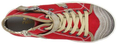 Rieker Kinder Rieker Teens K1984 Mädchen Sneaker Rot (leinen/rosso/kiesel 33)