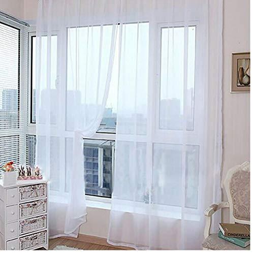 TOSSPER Europäische und amerikanische Vorhänge für Wohnzimmer Weiß Fenstersiebung Massivtürvorhang Drape-Panel Transparenter Tüll zufällige Farbe (Vorhänge-panels Weiße)