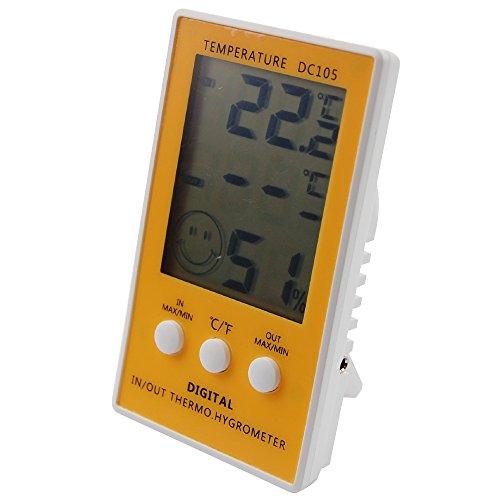 Digital Reptile Tank Thermometer Max Min–mit Hauptgerät Hygrometer Indoor Outdoor mit 1m Kabel