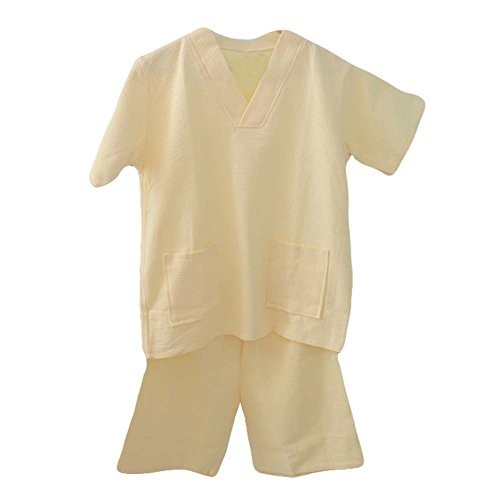 Blancho Cotton Waffle Tissu Court Pyjamas Suit lâche Home Wear Khan à Vapeur Pyjamas